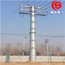 電力鋼桿 雙回路高壓電力鋼桿 基礎打樁10KV以上電