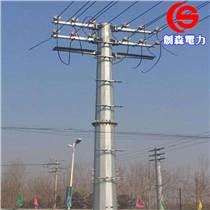 單回路轉角桿價格 法蘭連接電力鋼桿 雙回路高壓電力鋼