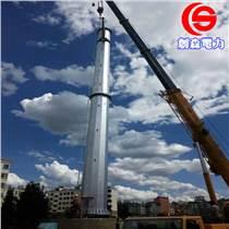 直線耐張高壓電力鋼桿16米電力鋼桿安裝 雙回路高壓電
