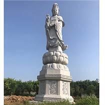 石雕滴水觀音 花崗巖三面觀音大型觀音寺廟供奉