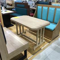 天津小吃店桌椅組合 肯德基快餐桌椅 奶茶店餐桌椅組合