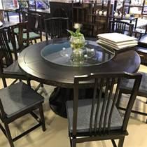 天津酒店實木餐桌 電動榆木餐桌 實木桌椅組合