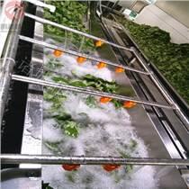 水果蔬菜高壓噴淋氣泡清洗機 多功能 全自動 廠家直供