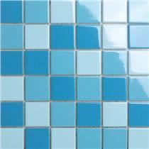 天藍色泳池馬賽克 室內外游泳池魚池馬賽克陶瓷馬賽克景