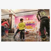 上海幕明西瓜爆破手充爆氣球親子互動游戲道具