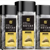 桂花烏龍茶25泡罐裝三角包茶批發OEM各種花果茶