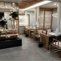 天津中餐廳實木桌椅組合 實木裝飾 實木隔斷墻