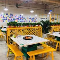 天津仿古木藝餐桌椅 食堂早餐店簡易餐桌椅