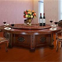 天津古樸年代全實木餐桌  簡約現代新中式榆木飯桌子