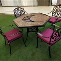 天津鑄鋁室外桌椅 防銹鐵藝桌椅四件套 五件套戶外桌椅