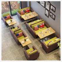 天津餐廳鐵藝卡座沙發  鐵藝餐廳桌椅組合