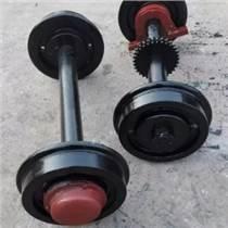 山西太原礦車輪直徑300軌距600實心輪對可定做