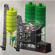 干粉砂漿攪拌機立式膩子粉生產線成套設備6噸砂漿混合攪