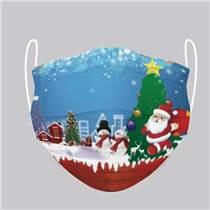 圣誕老人款口罩 無紡布 泉州供應 可定制