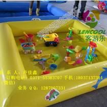 广场充气摸鱼池玩具新款
