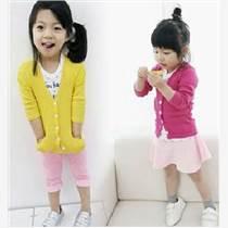韩版童装外套糖果色长