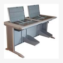 供應托克拉克 TKLK-01雙人位翻轉電腦桌 學校機房電腦桌 培訓電腦桌