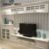 德尼尔衣柜 欧式电视柜定制 白色包覆视听柜 储物柜地柜组合 客厅家具定做