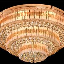 客廳燈圓形水晶燈飾LED吸頂燈具
