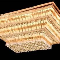 現代簡約客廳燈 長方形大氣水晶燈餐廳臥室燈led吸頂燈具