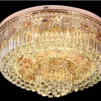 客廳燈簡約歐式金色圓吸頂水晶燈
