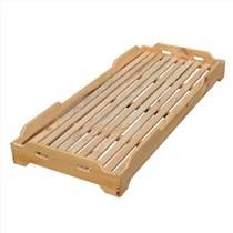 成都實木幼兒園床條形桌笑臉椅定做廠家