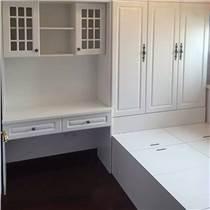 德尼尔整体衣柜定做 模压榻榻米床定制 书桌书柜组合设计