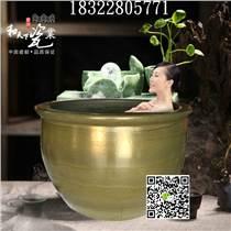 景德鎮泡澡缸廠家 定做口徑一米溫泉泡澡缸 陶瓷洗浴缸 澡堂大缸