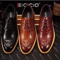 廣州真皮皮鞋廠家承接OEM貼牌加工品牌男士休閑皮鞋正裝商務皮鞋時尚豆豆鞋