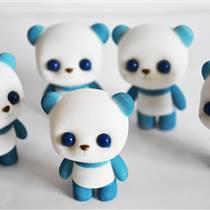 深圳市景年塑膠精致藍色萌熊毛絨玩具