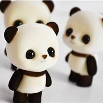 外貿熱銷塑膠白色啡熊毛絨玩具