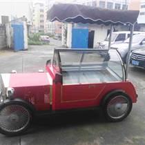 -25度可移动冰淇淋花车 推车低温展示柜 雪糕冷藏车