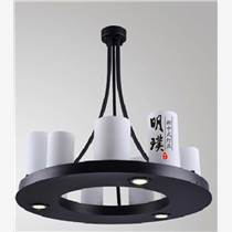 明璞中式圆形吊灯 新中式铁艺吊灯定制