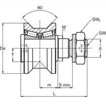 常州RKU95供應廠家直銷RKUR95偏心圓錐滾輪 軌道滾輪軸承