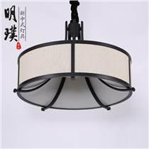 重庆走廊现代中式铁艺吊灯 圆形现代中式吊灯定制厂家