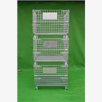 倉儲籠廠家生產外銷倉儲籠帶輪子折疊式倉儲籠