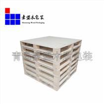 廠家直銷木托盤包裝專用木箱 出口免檢運輸方便黃島廠區