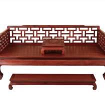 千百年紅木 紅酸枝家具 曲尺羅漢床