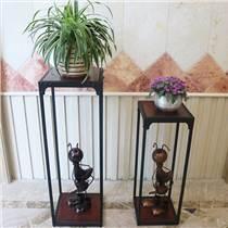 简约实木复古花架 客厅新式墙角绿萝花盆架 置物架 中式架
