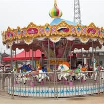 室外兒童游樂設備6米直徑16座豪華轉馬價格 金娃娃廠家定制生產