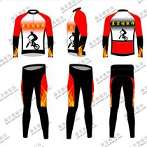春夏薄款速干排汗透氣防曬長袖騎行服男款單車自行車裝備森菲雅定制