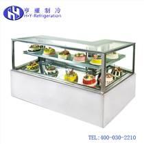 咖啡廳直角蛋糕柜|咖啡廳弧形蛋糕柜|咖啡廳點心保鮮柜|咖啡廳甜品冷藏柜