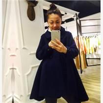 无锡女装批发 欧美范品牌折扣女装诗菲迪双面尼大衣做饭拿货