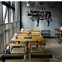 天津松木餐桌餐椅 榆木餐桌椅 老門板餐桌椅