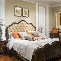 南昌实木床|名居库|美式外贸家具