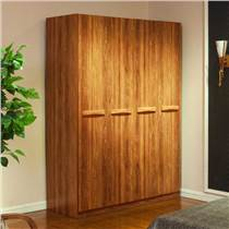 成都卧室现代简约四门木质衣柜批发