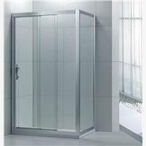 批發熱銷鋁型材方型一固兩活淋浴屏LR002
