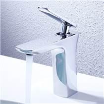 綺美斯全銅高端單孔冷熱水面盆洗手臺龍頭衛生間臺上盆洗臉盆水龍頭套裝