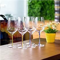 锐酒具酒友套装人工吹制水晶红酒杯葡萄酒杯家用户外便携酒杯