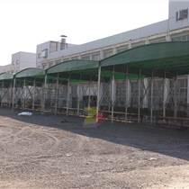 厂家定制大型活动推拉帐篷 仓库伸缩雨棚 大跨度仓库活